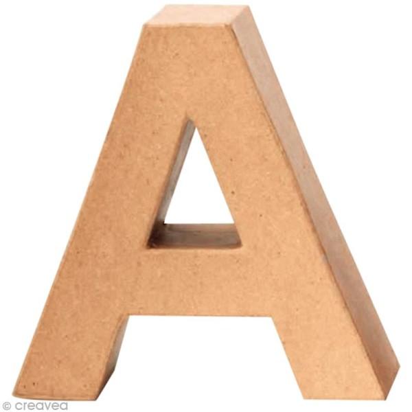 Lettre en carton A qui tient debout  - 17,5 x 17,5 x 5,5 cm - Photo n°1