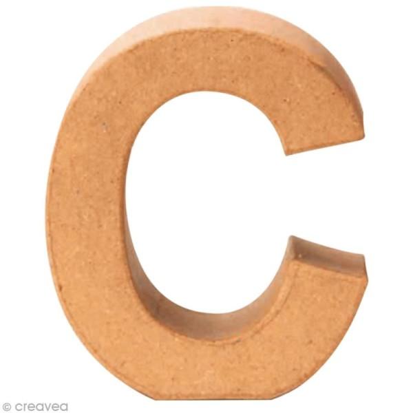 Lettre en carton C qui tient debout  - 17,5 x 16 x 5,5 cm - Photo n°1