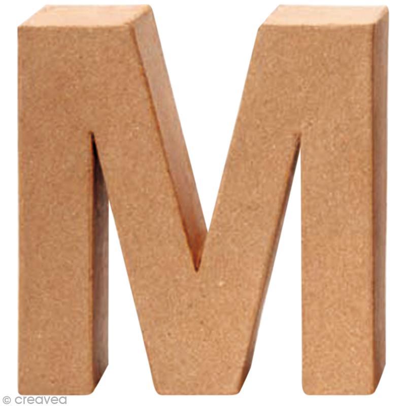 lettre en carton Lettre en carton M qui tient debout   17,5 x 17 x 5,5 cm   Lettre  lettre en carton