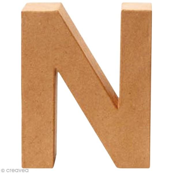 Lettre en carton N qui tient debout  - 17,5 x 14 x 5,5 cm - Photo n°1