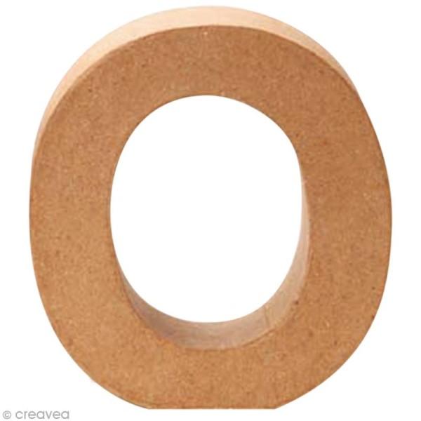 Lettre en carton O qui tient debout  - 17,5 x 17 x 5,5 cm - Photo n°1
