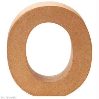 Lettre en carton O qui tient debout  - 17,5 x 17 x 5,5 cm