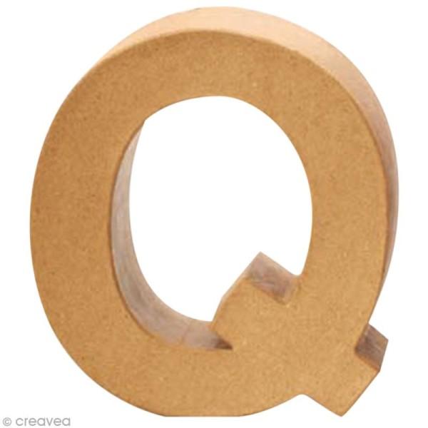 Lettre en carton Q qui tient debout  - 17,5 x 17,5 x 5,5 cm - Photo n°1