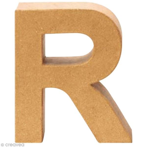 Lettre en carton R qui tient debout  - 17,5 x 15,5 x 5,5 cm - Photo n°1