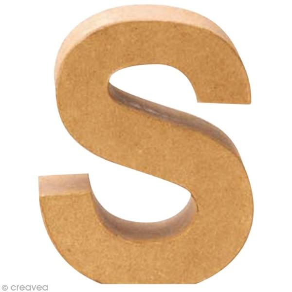 Lettre en carton S qui tient debout  - 17,5 x 14,5 x 5,5 cm - Photo n°1