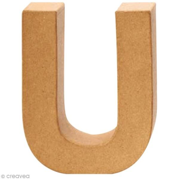 Lettre en carton U qui tient debout  - 17,5 x 13,5 x 5,5 cm - Photo n°1