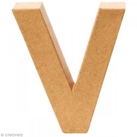Lettre en carton v qui tient debout 17 5 x 16 5 x 5 5 cm lettre en carton - Lettre en carton geante ...