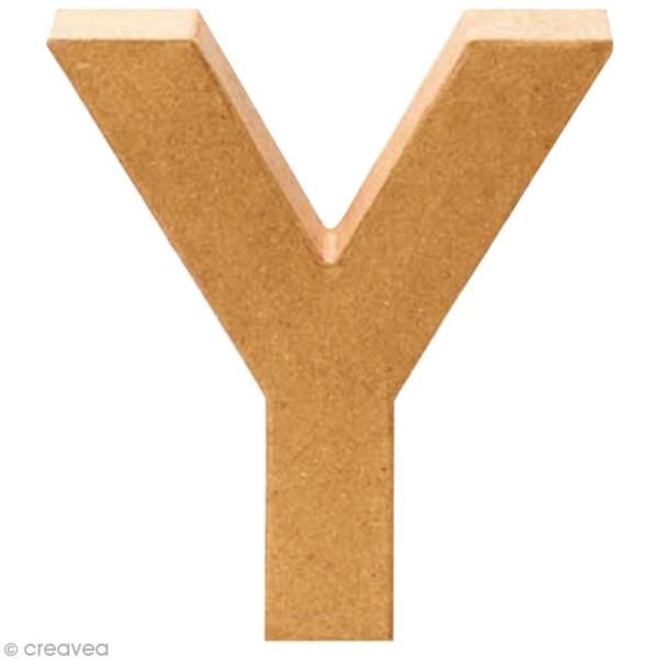 Lettre en carton Y qui tient debout  - 17,5 x 16,5 x 5,5 cm - Photo n°1