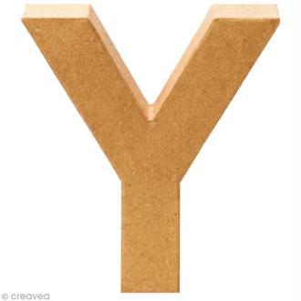 Lettre en carton Y qui tient debout  - 17,5 x 16,5 x 5,5 cm