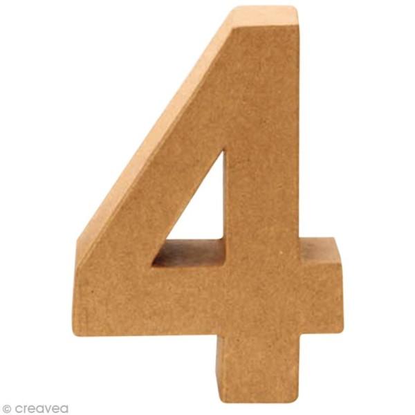 Chiffre en carton 4 qui tient debout - 17,5 x 12,5 cm - Photo n°1