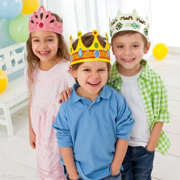 Assortiment de couronnes à personnaliser - 6 pcs - Photo n°2