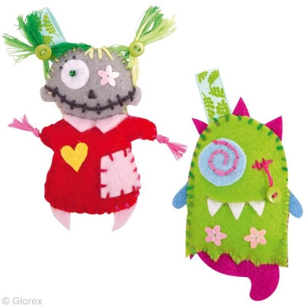 Kit feutrine pour enfant - Mini monstres - Photo n°2