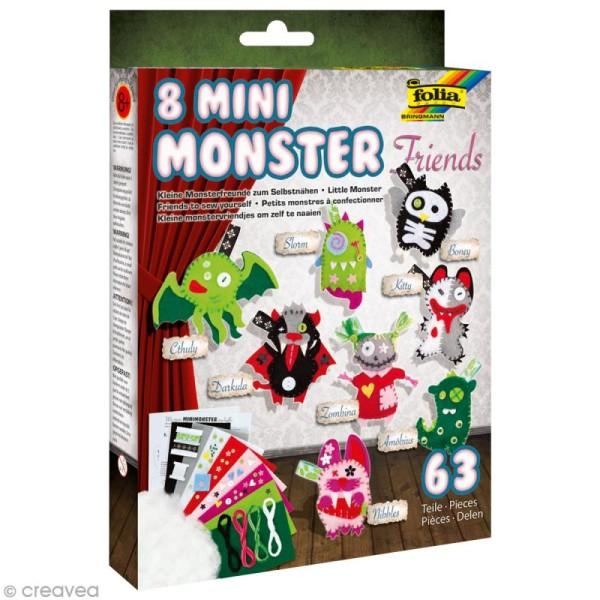 Kit feutrine pour enfant - Mini monstres - Photo n°1