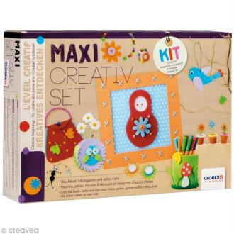 Kit Maxi Creativ Set - Feutrine et Mousse - 114 pcs