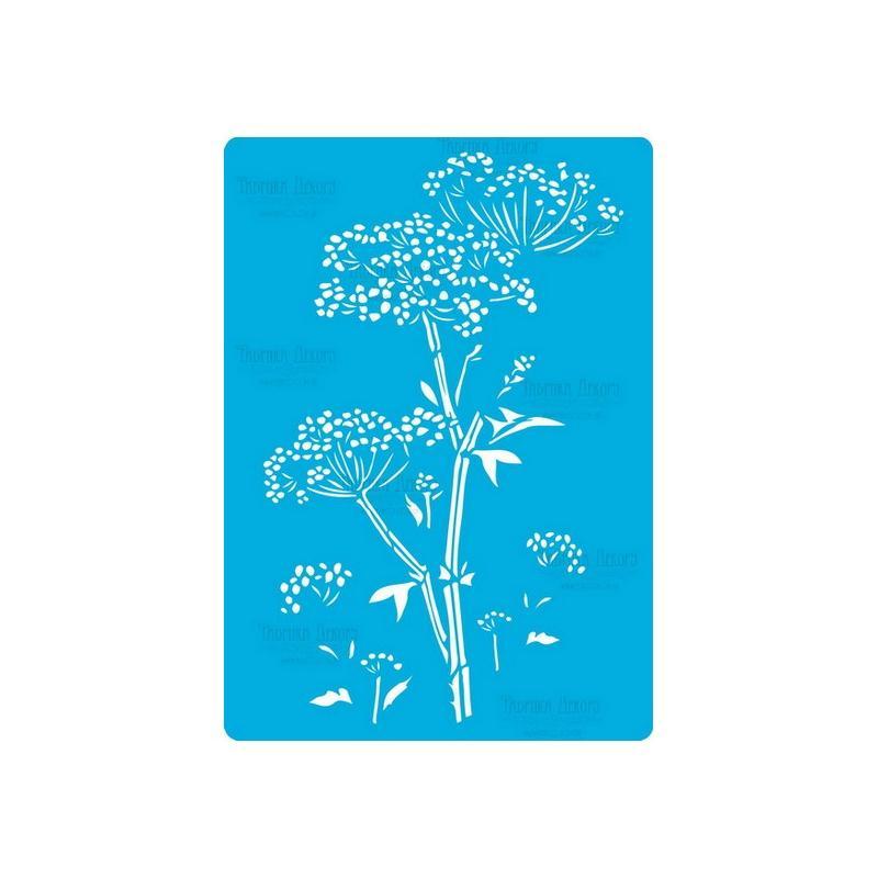 pochoir plastique souple r utilisable fabrika d coru fleur 190 pochoir divers creavea. Black Bedroom Furniture Sets. Home Design Ideas