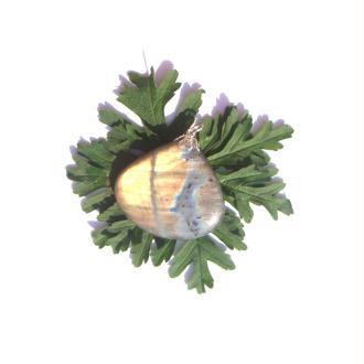 Labradorite : Pendentif fait main 4,8 CM de hauteur x 4,4 CM de largeur max