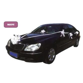 Kit mauve de décoration voiture de mariage