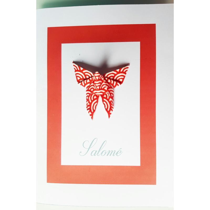 faire part origami personnalis avec pr nom naissance bapteme accessoires naissance et. Black Bedroom Furniture Sets. Home Design Ideas