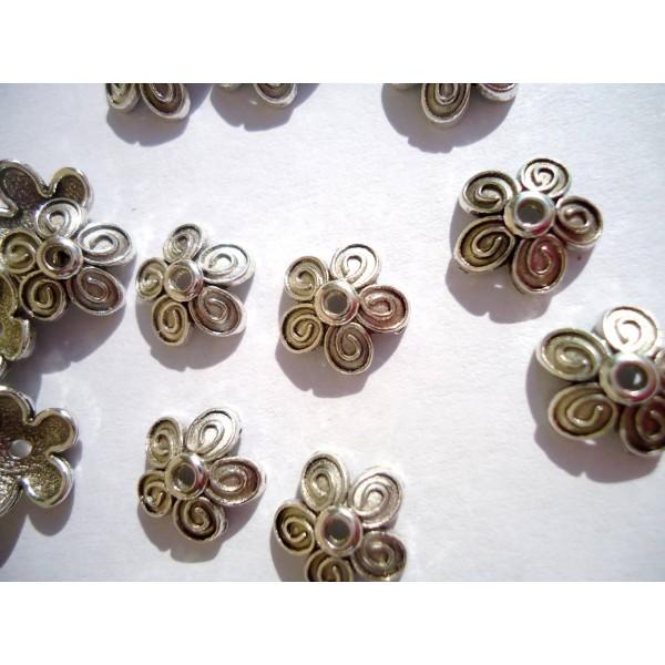 60% pas cher vente chaude pas cher aliexpress LOT de 100 Coupelles en métal argenté 10 mm - Apprêt bijoux