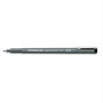 Staedtler Pigment liner 308/05/9-N Stylo feutre fin Pointe Calibrée Trait 0,5 mm- Noir Lot de 10