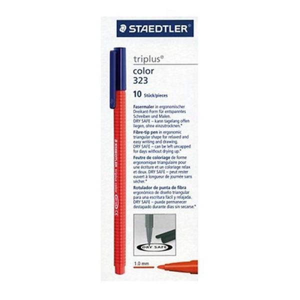 Staedtler 323-2 Triplus Colour Feutre de coloriage Rouge Boîte de 10 (Import Royaume Uni) - Photo n°1