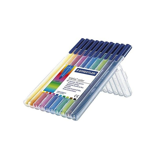Staedtler triplus color Boîte de 10 feutres de coloriage Couleurs assorties Pointe 1,0 mm - Photo n°1