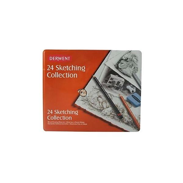 Derwent Crayons d'esquisse Boîte métal de 24 (Import Royaume Uni) - Photo n°2