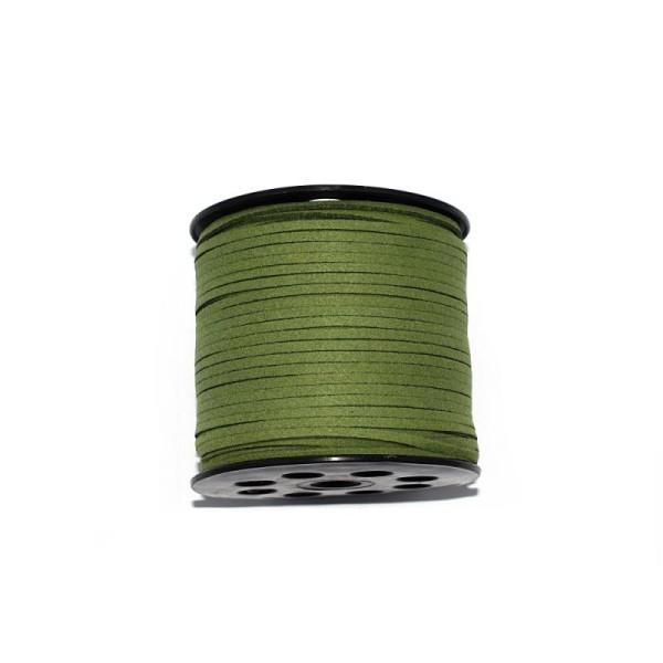 Suédine / daim artificiel 3 mm vert x1 m - Photo n°1