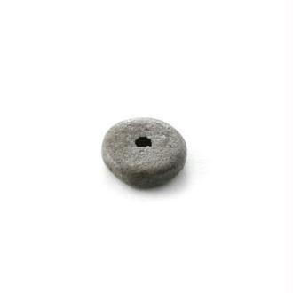 Rondelle céramique 6,5x2,2 mm gris foncé mat x10