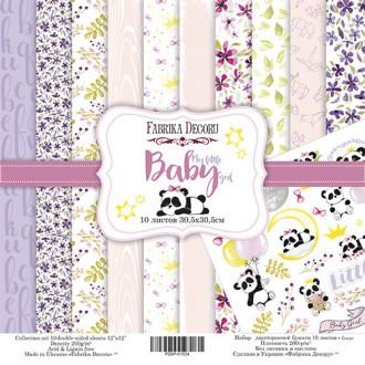10 papiers 30,5 x 30,5 cm FABRIKA DECORU MY LITTLE BABY GIRL