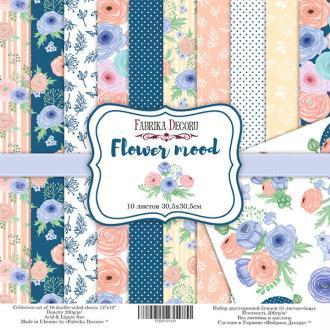 10 papiers 30,5 x 30,5 cm FABRIKA DECORU FLOWER MOOD