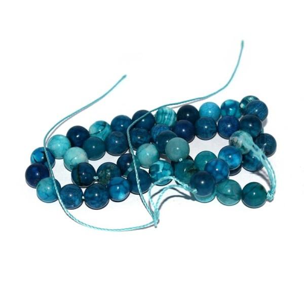 PCS pierres précieuses À faire soi-même Fabrication De Bijoux African Jasper Perles Rondes 8 mm bleu//vert 45