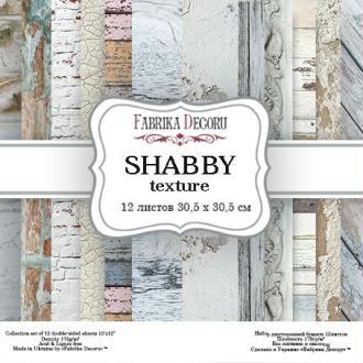 10 papiers 30,5 x 30,5 cm FABRIKA DECORU SHABBY TEXTURE