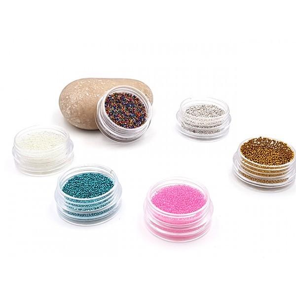 6 Boîtes De Microbilles Multicolores Faux Sucre - Photo n°1