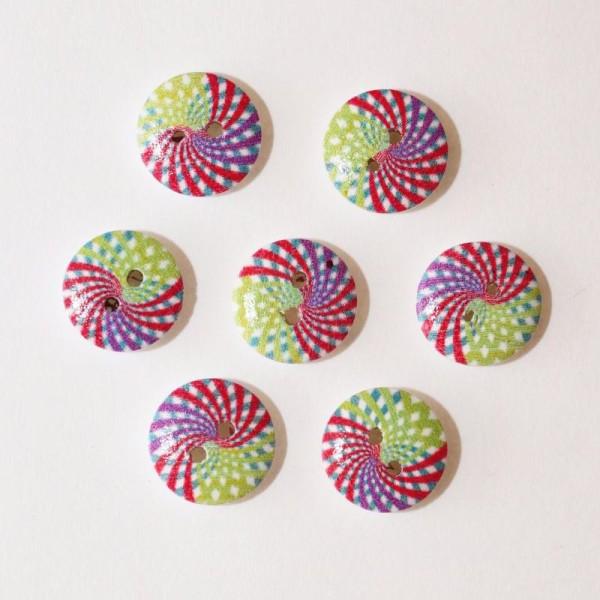 Jaune Lot de 10 Boutons Rond à 2 trous de 9 mm