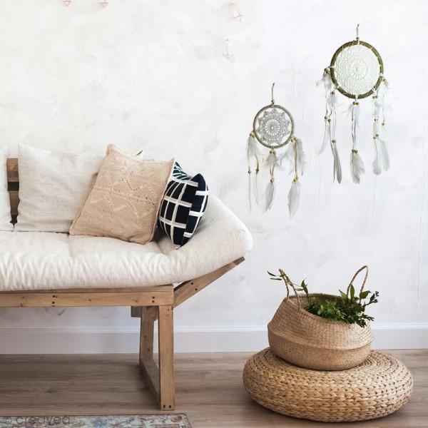 Attrape-rêves décoratif - Naturel - diamètre 17 cm - Photo n°2