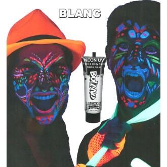 Tube peinture blanc fluo UV corps et visage 10 ml