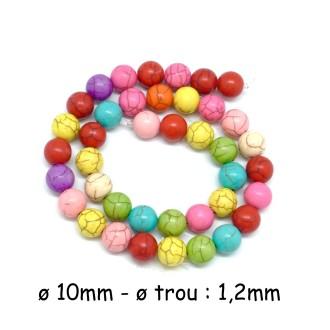 39 Perles Ronde 10mm Imitation