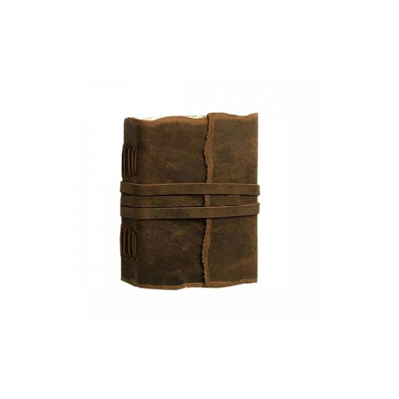 carnet de voyage cuir yaatra 180p coton 10x13 cm fait main. Black Bedroom Furniture Sets. Home Design Ideas