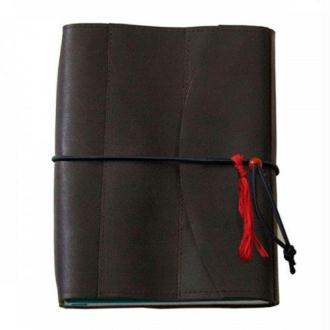 Carnet voyage Cuir Véritable Rechargeable 16x21cm 3 cahiers L increvable Lamali