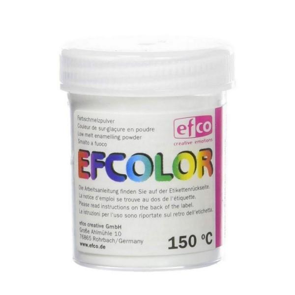 Poudre transparente Efcolor pour émaillage à froid, 25ml de sur-glaçure incolore, pour cuisson à 150 - Photo n°2