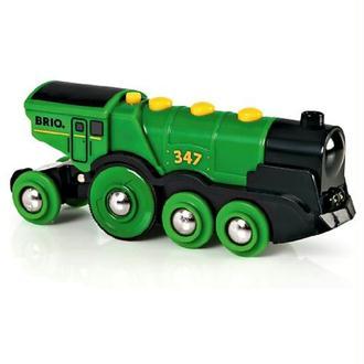 Brio - 33593 - Jeu de Construction - Locomotive Puissante à Piles - Vert