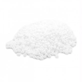 Perles miyuki rocaille 11/0 blanc opaque ref 402 par 10g