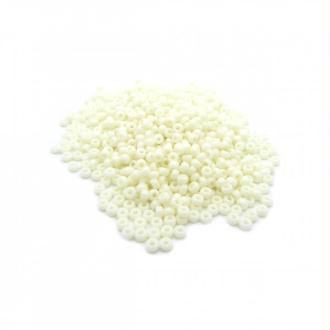 Perles miyuki rocaille 11/0 crème opaque ref 491 par 10g