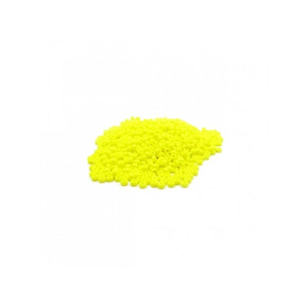 Perles miyuki rocaille 11/0 jaune opaque ref 404 par 10g - Photo n°1