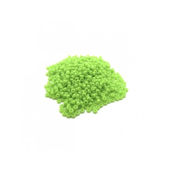 Perles miyuki rocaille 11/0 vert pomme ref 416 par 10g - Photo n°1
