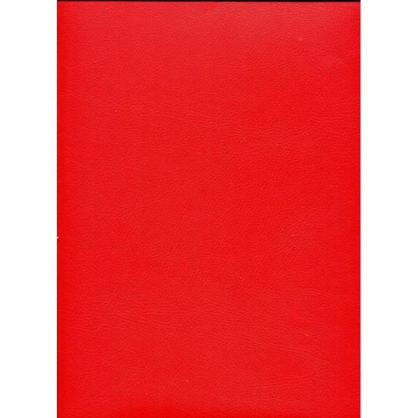 Chevreau rouge, papier simili cuir - Photo n°1