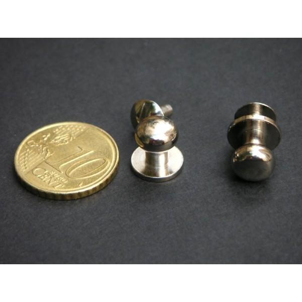 Les boutons simples nickel à vis - Photo n°1