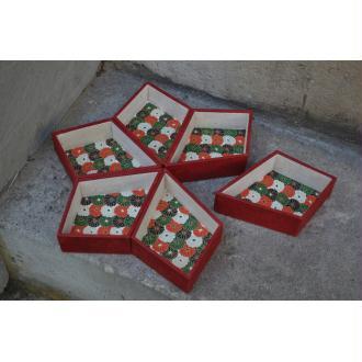 L'étoile de Noël, fiche technique de cartonnage