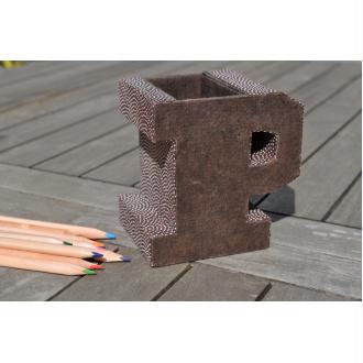 Pot à crayon P, fiche technique de cartonnage